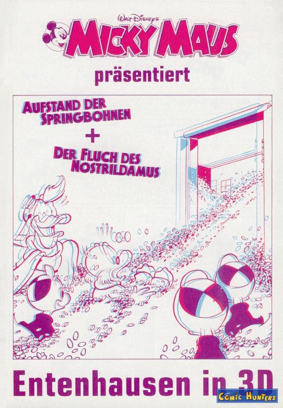 comic cover Micky Maus Magazin Beilage 4