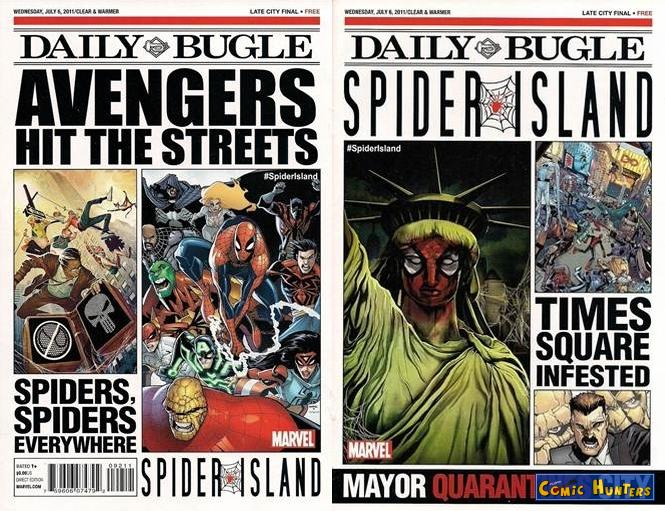 comic cover Spider-Island Daily Bugle 1