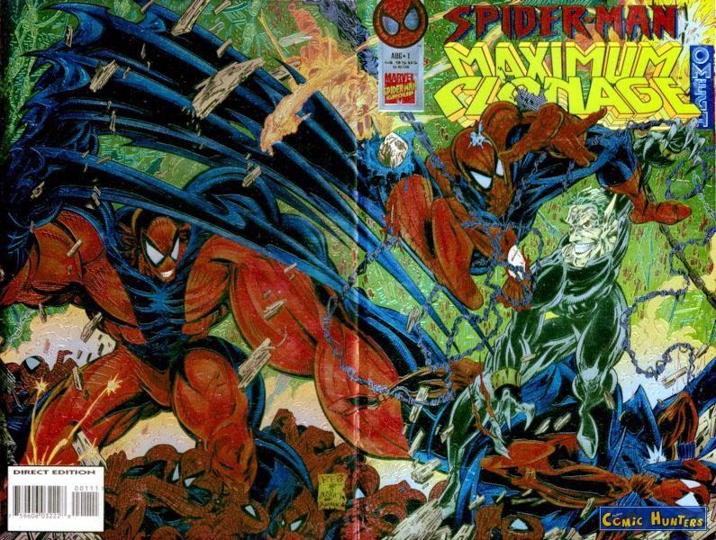 comic cover Spider-Man: Maximum Clonage Omega