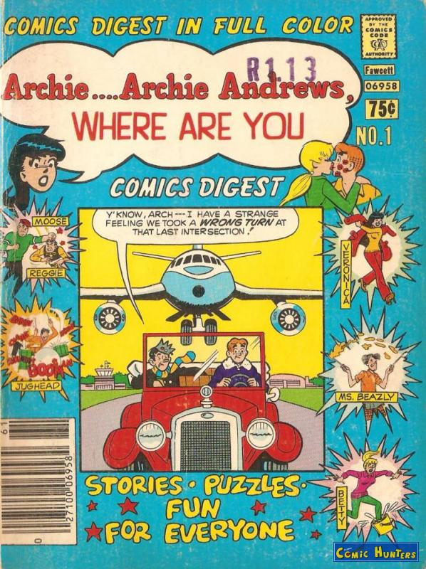 comic cover Archie... Archie Andrews, Where Are You? 1