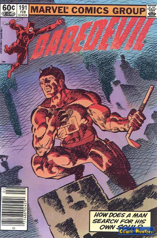 comic cover Daredevil 191