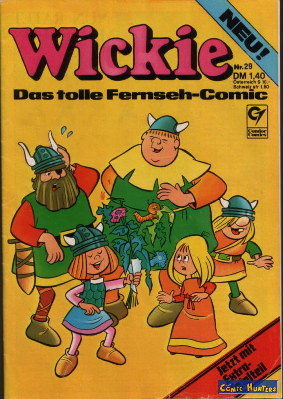 comic cover Wickie 29