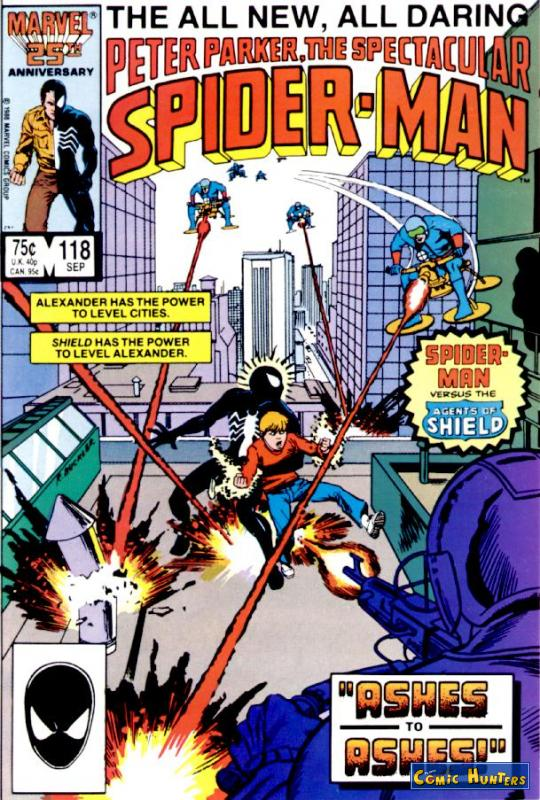 comic cover The spectacular Spider-Man 118