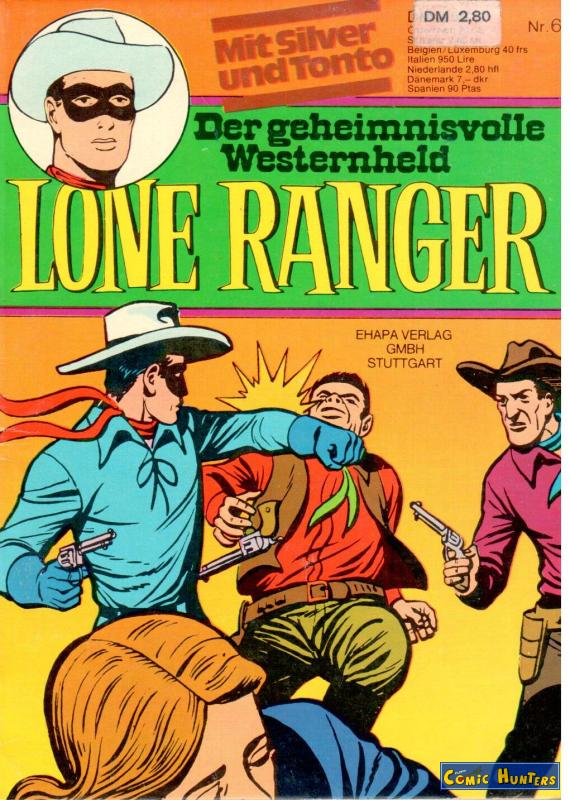 comic cover Lone Ranger 6