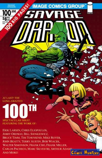 comic cover Savage Dragon (2.Print Variant Cover-Edition 100