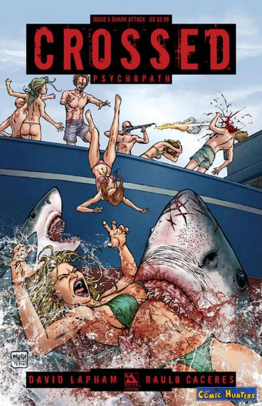 comic cover Crossed Psychopath (Shark Attack Variant Cover-Edition) 5