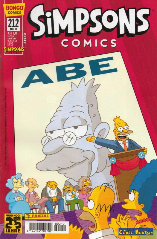 comic cover Simpsons Comics 212