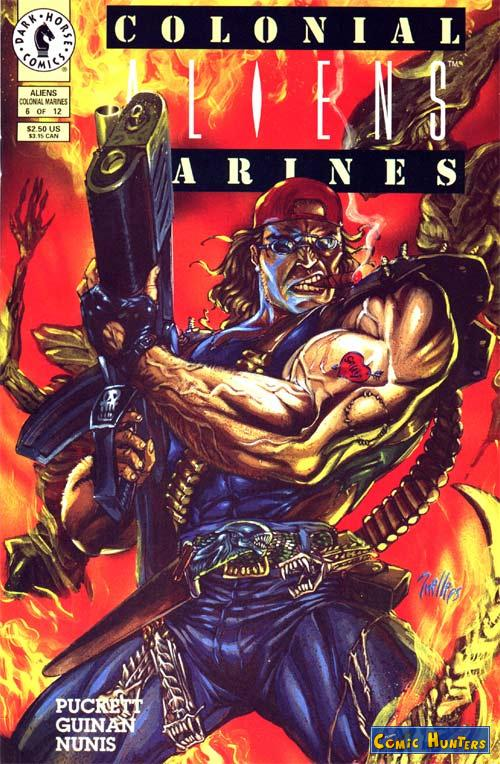 comic cover Aliens: Colonial Marines 6