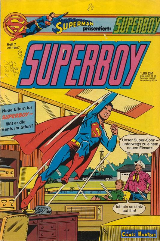 comic cover Superboy 7