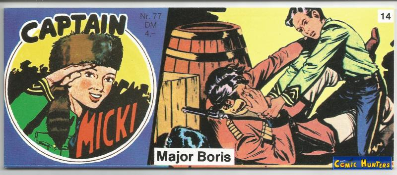 comic cover Major Boris 77